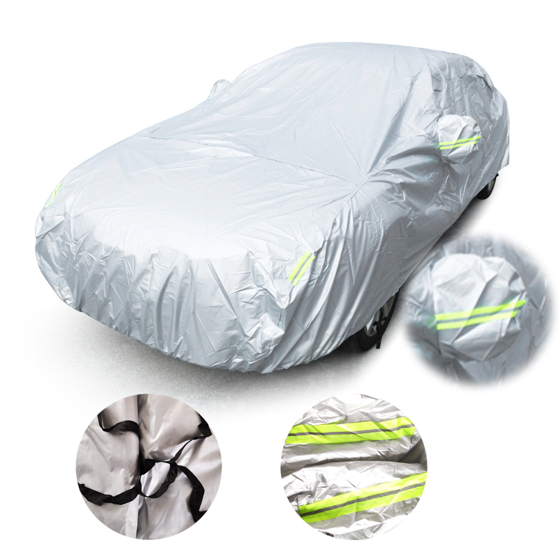 Uniwersalne pokrowce samochodowe rozmiar S/M/L/XL/XXL kryty odkryty pełna pokrywa Auot słońce UV śnieg odporna ochrona przed kurzem pokrywa dla Sedan