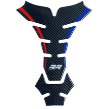 Carbon Fiber motorcycle Sticker Decal Emblem Protection Tank  Pad For BMW S1000 RR HP4