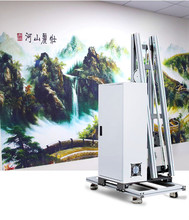 3D Automic Vertical Wall Printer Direct To Wall Inkjet Printer UV Decor Wall Printing Machine For Wall Mural good price