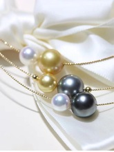 Fine Jewelry 18K Yellow Gold Natural Ocean Tahiti Black Pearl 8 11mm Pendant Necklaces for Women FIne Pearls Pendants