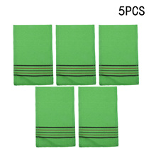 5Pc Korean Italy Exfoliating Body-Scrub Glove Towel Green Red Shower Scrubbers 14*18cm Home Sports Cleaning