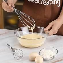 Batedor de aço inoxidável conjunto de 2 pces 25cm 20cm batedor resistente para cozinhar cozimento utensílio de cozinha batedor para misturar agitação