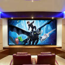 Projector-Screen Fixed-Frame Border Home White-Black Theater PVC for Office Meeting Pvc-Surface