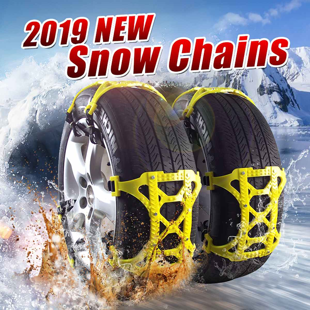 1/3/6pcs TPU Snow Chains Universal Car Suit 165-265mm Tyre Winter Roadway Safety Tire Chains Snow Climbing Mud Ground Anti Slip