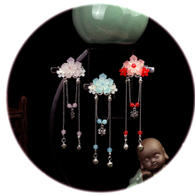 1pcs  Chinese Traditional Hair Accessories Handmade Flower Crystal Hairpin Alloy Long Tassel Hair Clip Classical Hair Jewelry маршрутизатор ubiquiti erpro 8 eu edgerouter pro 8 8 port router 2 sfp