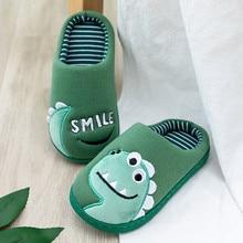 Зимние тапочки для малышей; обувь для маленьких мальчиков и девочек; теплая Домашняя обувь с милыми животными; тапочки для детей; Zapatillas Nino