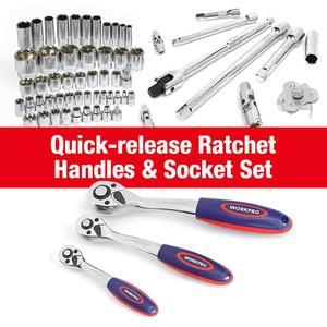 Image 4 - WORKPRO conjunto de herramientas de reparación de automóviles, kit de herramientas mecánicas, destornilladores, llaves inglesas de carraca, enchufes, 123 piezas