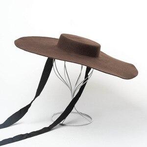 Image 3 - 01809 hai8131 ฤดูหนาว % ขนสัตว์แฟชั่นรุ่นแสดงสไตล์Lady fedorasหมวกผู้หญิงหมวก