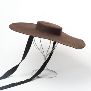 Image 3 - 01809 hai8131 חורף % צמר אופנה דגם להראות סגנון פנאי גברת מגבעות לבד כובע נשים כובע