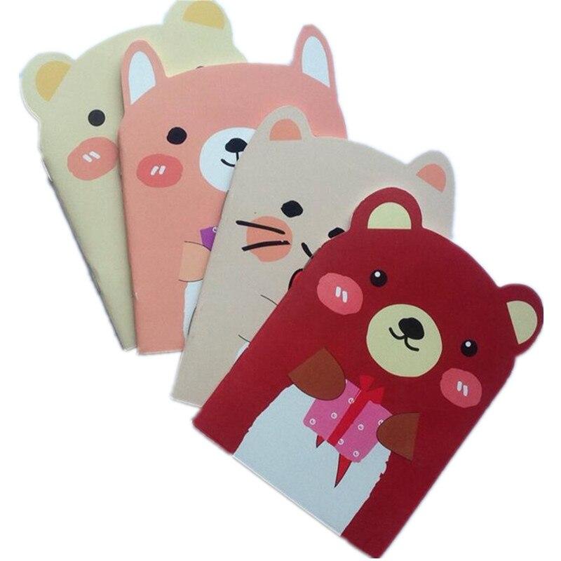 40 pacotes lote criativo papelaria kawaii e bonito urso animal bloco de notas para presentes caderno
