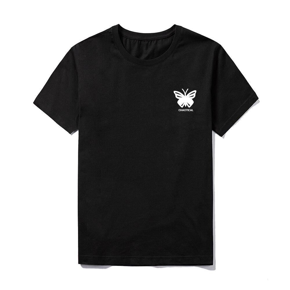 Harajuku Hip Hop Sommer Kurzarm Tees Männer Schmetterling Drucken Tops Streetwear männer Baumwolle Slim Fit T-shirts Männlichen 2021 neue Tops