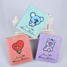 HUGWISER Bomb-proof Youth Regiment Lovely Neighboring Assistant Ladies Short-money Wallet Student Card Bag pocket change Wallet