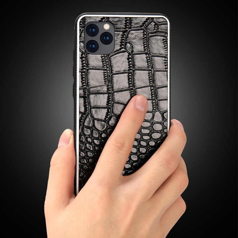 Funda de teléfono de cuero genuino para Apple iphone 11 11 Pro Max X XR XS max 360 funda protectora completa para iphone 6 6S 7 plus 8 plus