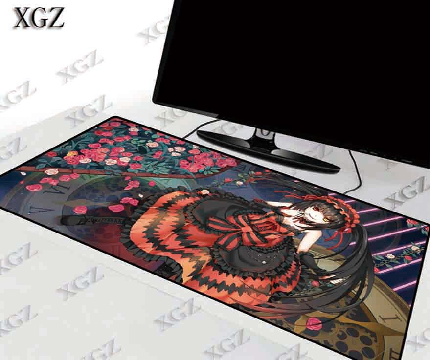 XGZ 30X60/40X90CM XL Japan Anime Large Locking Edge Mousepad Gaming Keyboard Mouse Pad Girl Friend Sister Nightmare DATE A LIVE