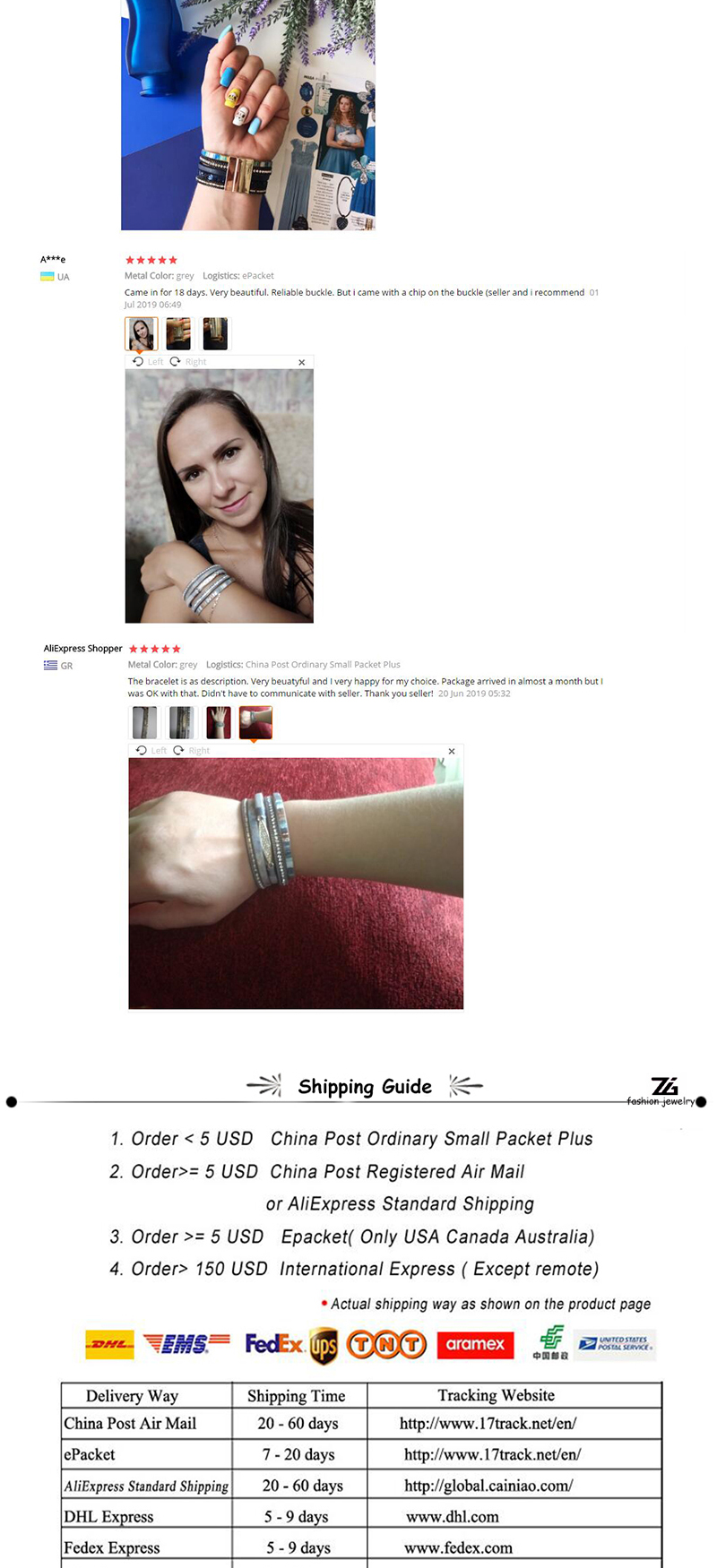 Zg 2020 mulheres pulseiras de couro moda