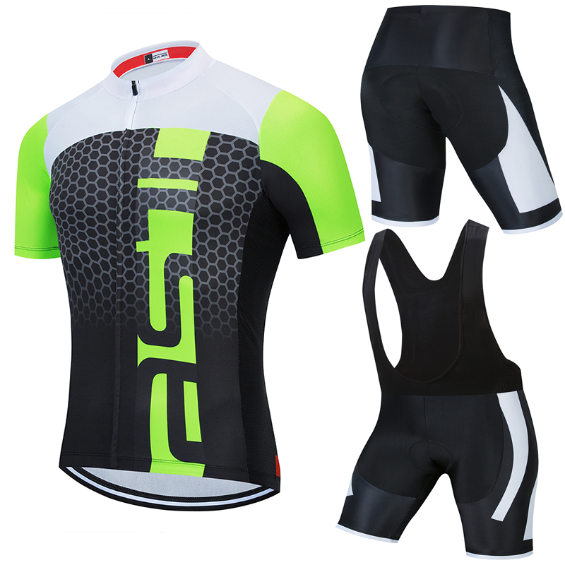 Pro Team RCC SKY Cycling Clothing 5D Set MTB Uniform France Bicycle Clothes Quick Dry Bike Jersey Mens Short Maillot Culotte