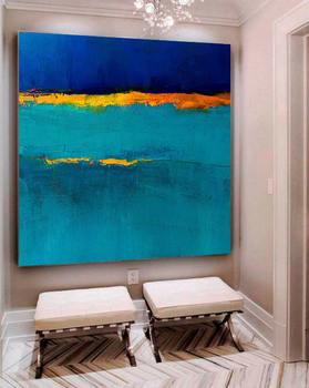 Blue Painting Seascape Painting Large Original Abstract Painting Landscape Painting Sunset Painting Ocean Painting Oil Painting