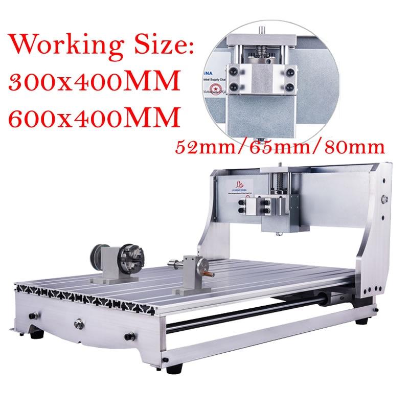 DIY Mini CNC 3040 6040 rama śruba kulowa z Nema 23 silniki krokowe 4 osi dla CNC 3040 Router tokarka maszyna grawerująca
