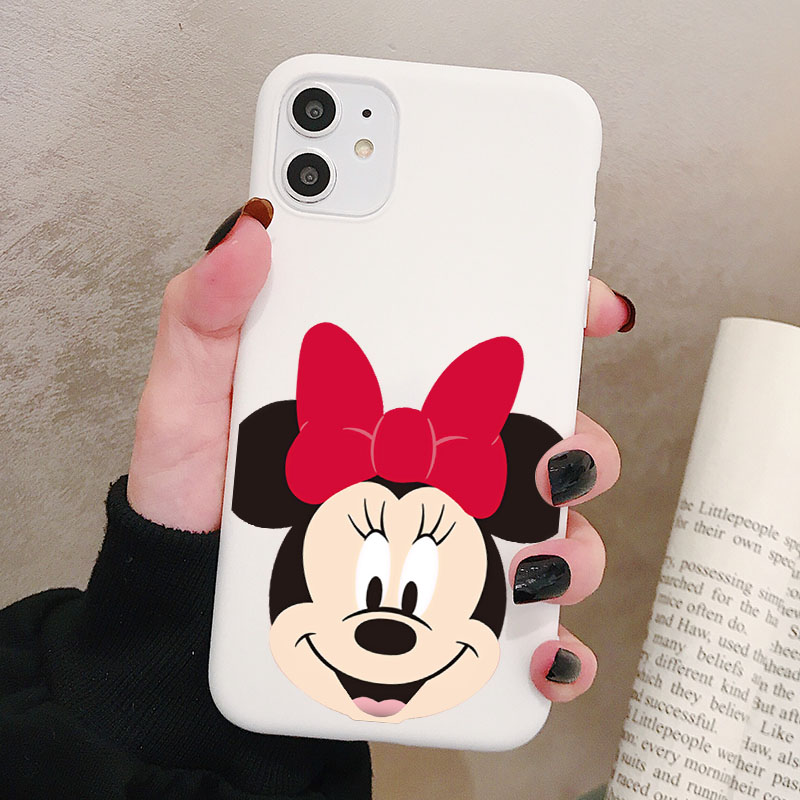 Cartoon Mouse Phone Case For Huawei P40 P30 P20 Pro Lite Plus Frosted Silicone Cases Soft Back Cover