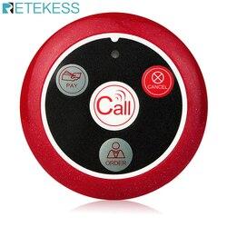 Retekess 433 mhz sem fio pager botão chamada pager restaurante garçom sistema de chamada equipamentos catering serviço garçom f9408a
