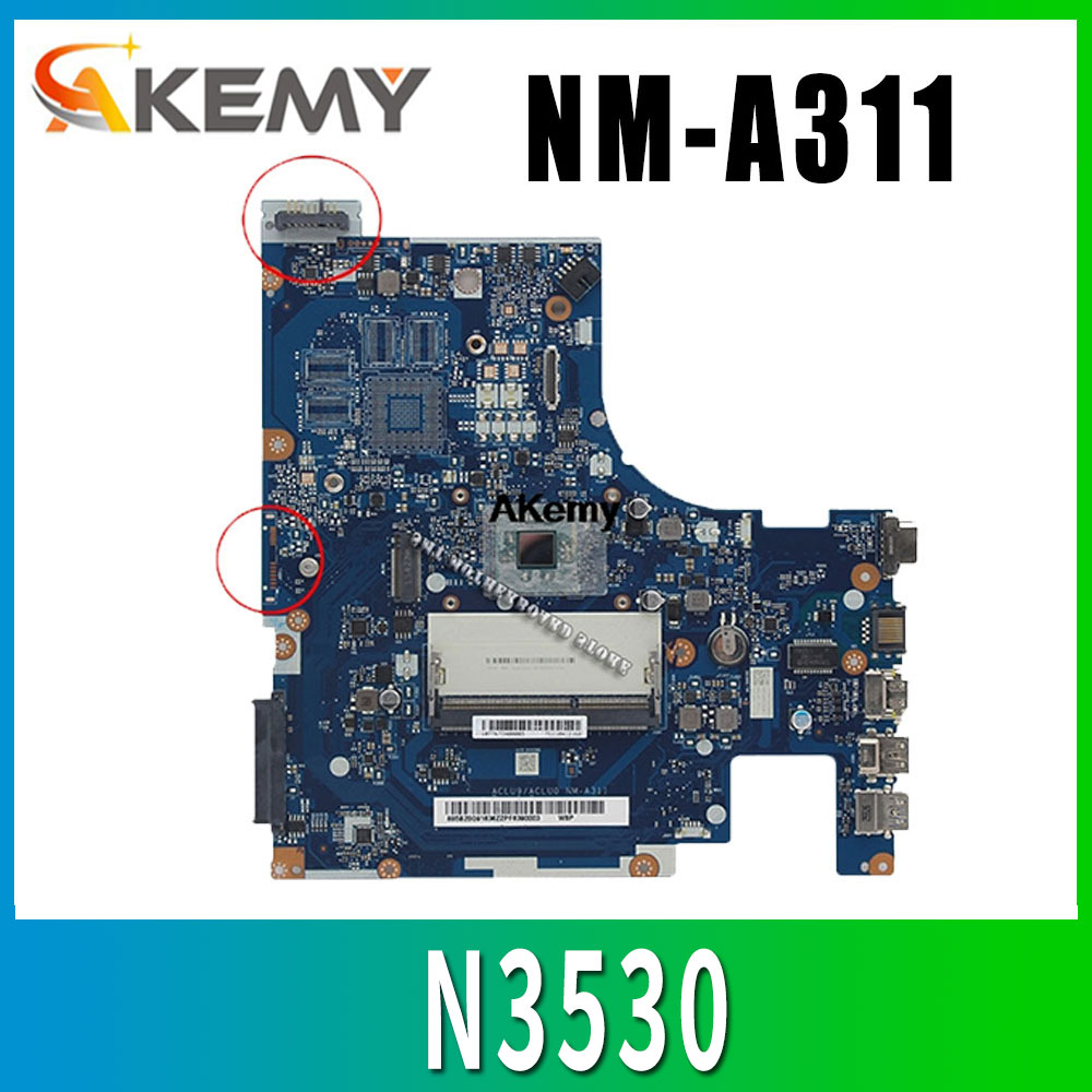 100% TESTED FREE SHIPPING ACLU9/ ACLU0 <font><b>NM</b></font>-<font><b>A311</b></font> Laptop motherboard for Lenovo G50-30 ON BOARD CPU image