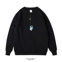 Mens Loose Hoodies Astronau Hoodie Fleece Jackets Pullover High Street Streetwear Long Sleeve Men Punk Style Fashion Sweatshirts