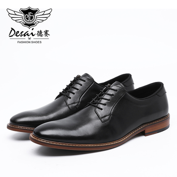DESAI 2020 Spring Summer New Arrive Genuine Leather Shoes Men's Business Dress Lace-up Men Derby Shoes High Quality Business