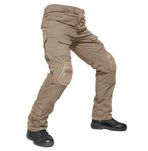 Image 3 - 위장 전술 복장 무릎 패드와 군사 바지 남자 전술화물 바지 군인 미국 육군 바지 Paintball Airsoft