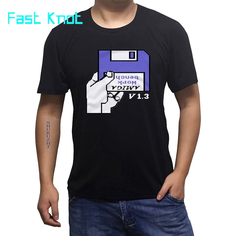 T SHIRT COMMODORE C64 AMIGA GAME GAMER GAMING ATARI WORKBENCH CULT VINTAGE RETRO Harajuku Fashion Classic Unique sbz1471 image