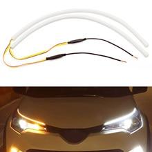 Luz LED de circulación diurna para coche, señal de giro DRL, para VW, Polo, Passat b5, b6, b7, b8, Golf 4, 5, 6, 7, T4, T5, Touran, 2 uds.