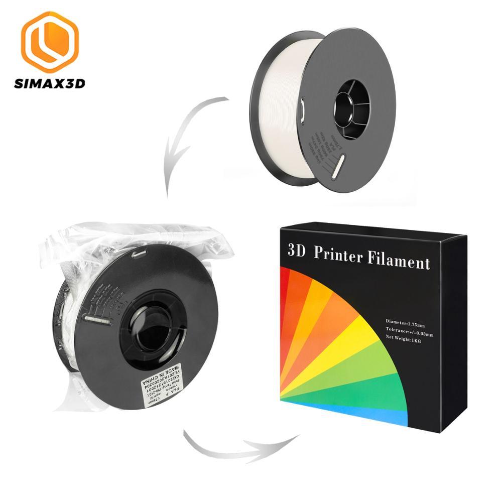 SIMAX3D 1.75mm PLA filament consumables 3D printer parts extruded plastic White mpressora with all b