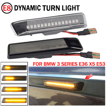 For BMW E36 M3 Facelift 1997-1999 X5 E53 1999-2006 LED Dynamic Turn Signal Light Side Fender Flash Marker Lamp Indicator image