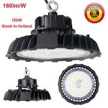 스페인 재고 160lm/W 150W LED 하이 베이 빛 마이크로 웨이브 모션 센서 UFO 높은 베이 빛 200W 네덜란드 창 고에