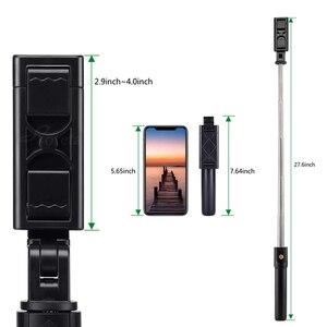 Image 3 - 3 in 1 무선 블루투스 selfie 스틱 접이식 아이폰 화웨이 삼성 미니 삼각대 확장 가능한 모노 포드 원격 제어