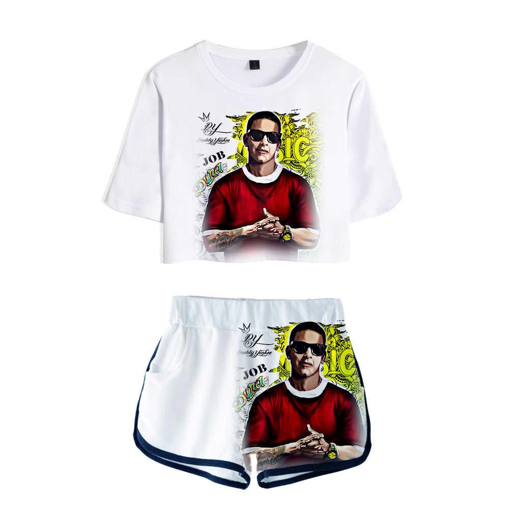 Camiseta Wawni Daddy Yankee Para Mujer Traje De Estilo Hip Hop Harajuku Pantalones Cortos Informales De Poliester Conjunto De Dos Piezas Para Mujer 2020 Conjuntos De Mujer Aliexpress