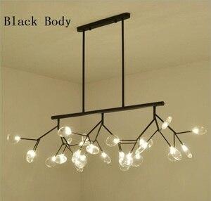 Image 5 - Nowoczesne LED nowe kreatywne lampy wiszące firfly czarne złoto prostokąt lampa wisząca do jadalni kuchnia