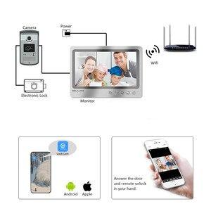 Image 2 - Videoportero con pantalla de 9 pulgadas, sistema de grabación de teléfono para puerta, WIFI, con cable, control remoto, RFID, envío gratis