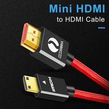 Мини hdmi кабель высокоскоростной штекер мини 4k 3d 1080p для