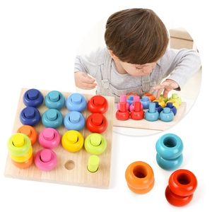 Wooden Color Sorting Stacking