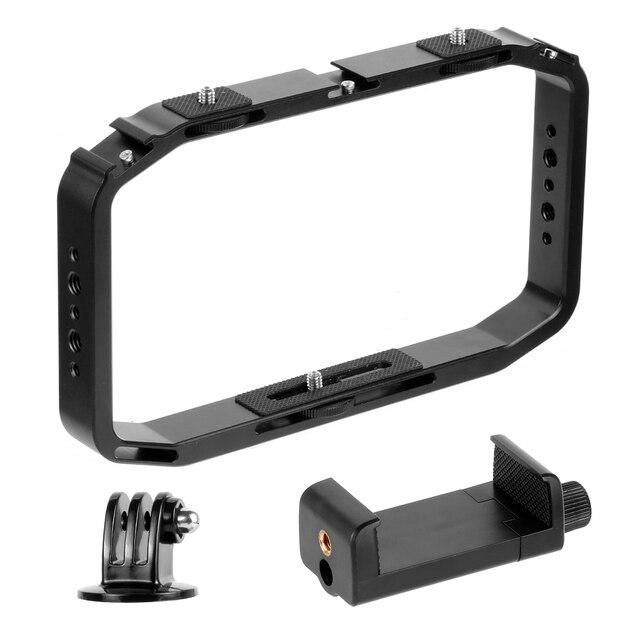 BGNing DSLR Video Rig Cage Handheld Smartphone Vlog Stabilizer Camera Cage for Gopro 8 7 6 for XiaoYI EKEN Sport Camera