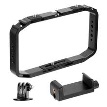 BGNing DSLR zestaw wideo klatka Handheld Smartphone Vlog stabilizator klatka operatorska dla Gopro 8 7 6 dla XiaoYI EKEN kamera sportowa