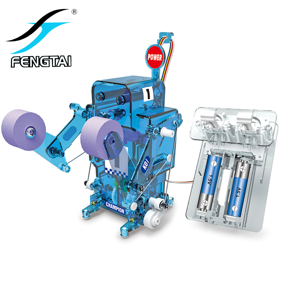 DIY self-assembled boxing fighter electronic remote control robot Building Blocks Educational Toys for Children