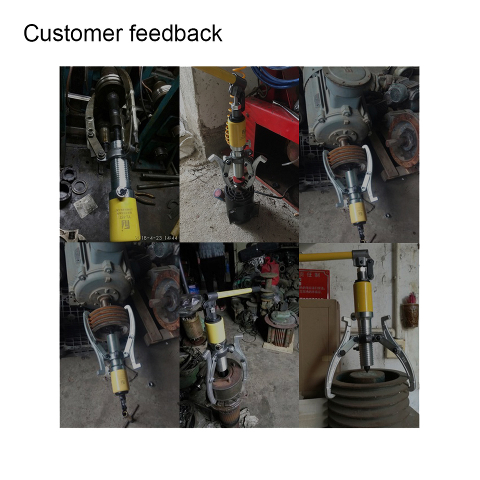 20T Ton Hydraulic Gear Bearing Wheel Bearing Hub Puller 3 Reversible Jaws Tool