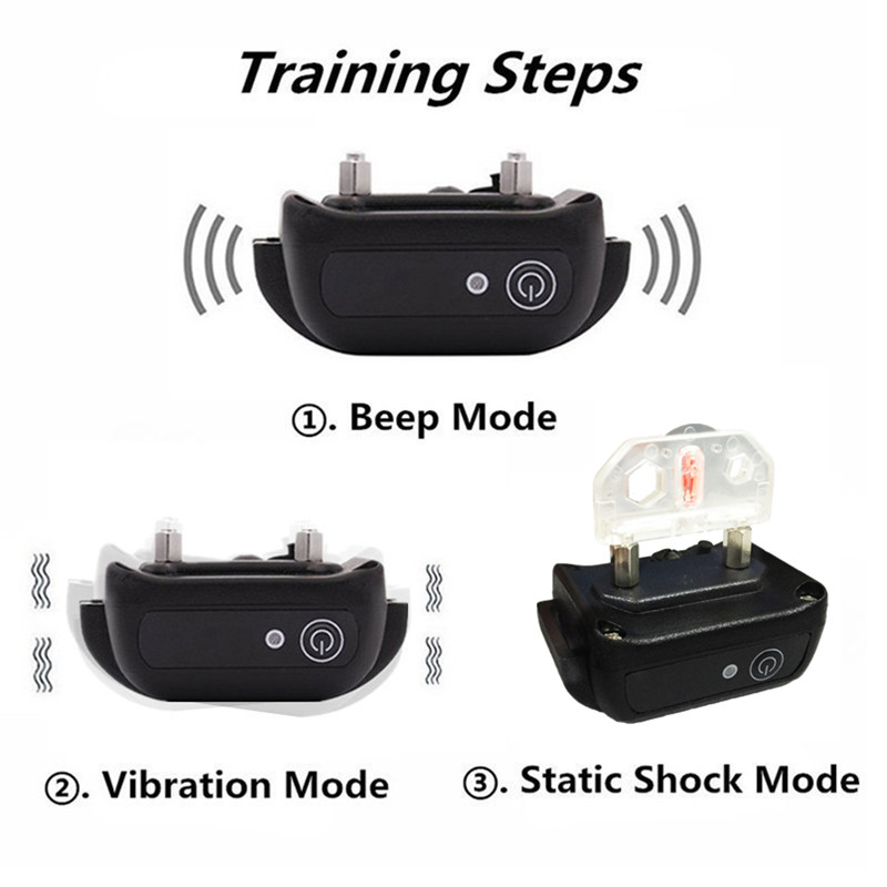 1000m Waterproof Electric Dog Training Collar with Remote Control and Rechargeable Battery 2