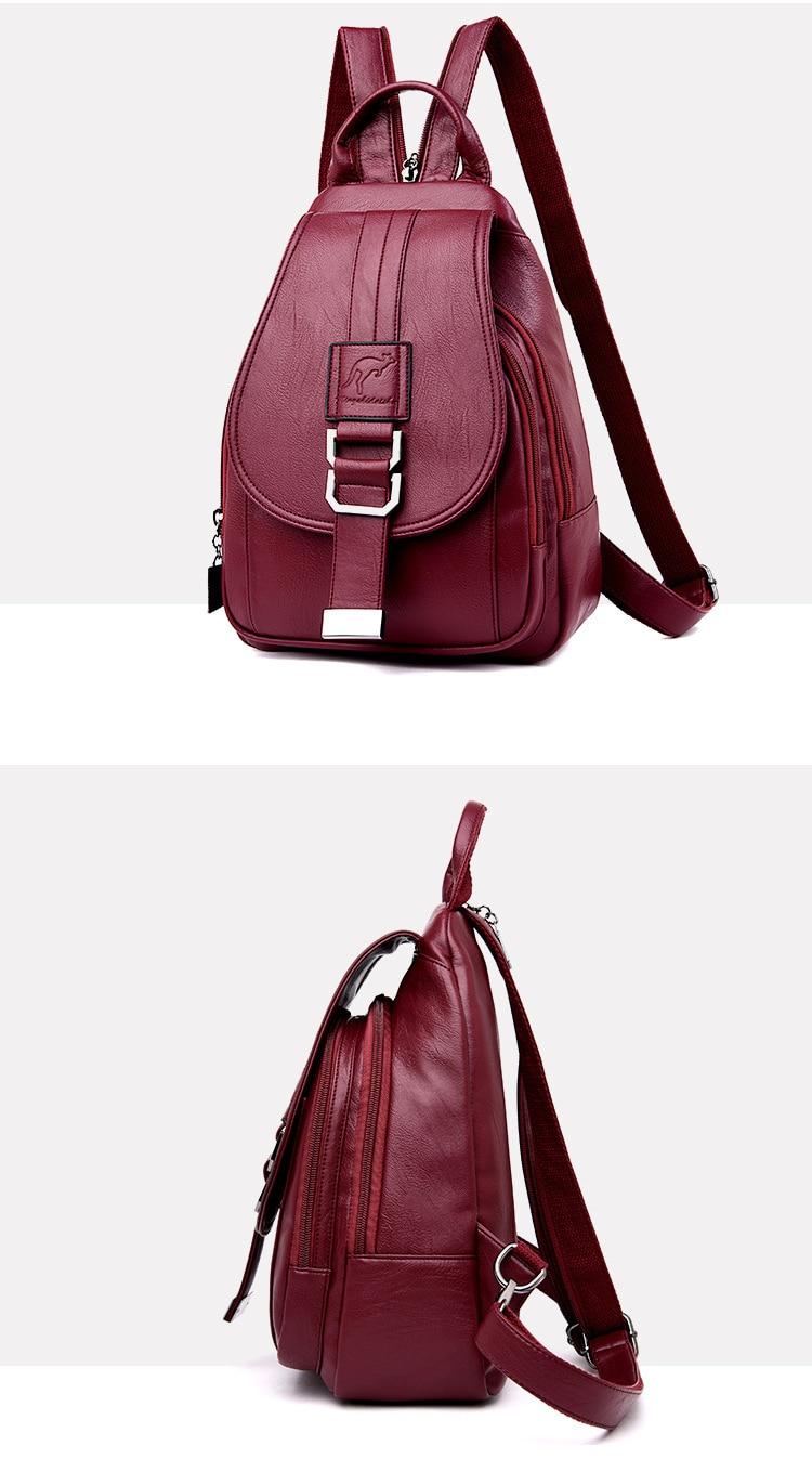 Women's Vintage Leather Backpack 16