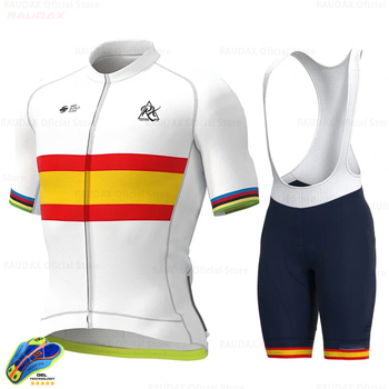 Movistarful-Ropa de Ciclismo para Hombre, conjunto de manga corta para Ciclismo de...