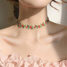 1 шт. прелестные модные садовые цветы кружево колье, ожерелье для женщин с вышивкой модный романтичный дизайн аксессуар