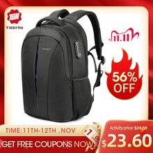 Tigernu odporny na zachlapanie 15.6 cal plecak na laptopa NO Key TSA z zabezpieczeniem przeciw kradzieży mężczyźni plecak podróży plecak dla nastolatków torba mężczyzna plecak mochila