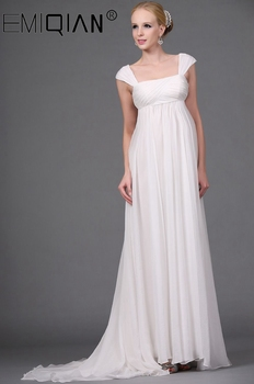 Vestido de Noiva Chiffon Wedding Dress High Waist Maternity Gowns for Pregnant Women Custom Made Empire Bride Dresses - discount item  40% OFF Wedding Dresses