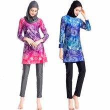 Swimsuit Swimwear-Sleeve Beach-Wear Burkini Islam Modest Full-Cover Muslim Long Fashion